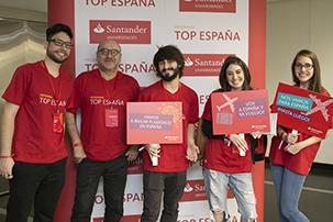 Alunos do programa Top Espanha