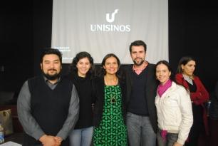 Profa. Têmis Limberger com alunos do Mestrado e da Iniciação Científica.