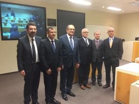 Banca de Defesa de Tese do doutorando Paulo Afonso Brum Vaz com a participação do Ministro Gilmar Mendes, como avaliador externo.