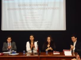 Seminário contou com presença da Sra. Marinês Restelatto Dotti, Sr. Guilherme Augusto Faria de Moraes, Profa. Dra. Têmis Limberger e Prof. Dr. Anderson Vichinkeski Teixeira.