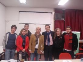 Prof. Jose Luis Bolzan de Morais, Mestrandos e Doutorandos do PPGDireito com o Prof. Dr. Roberto Miccù (Universidade de Roma, Sapienza).
