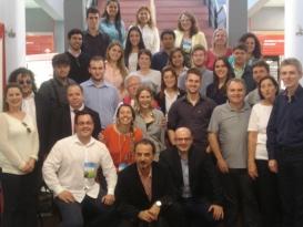 Participantes e comissão organizadora do XI Seminário Internacional Nanotecnologias, Sociedade e Meio Ambiente, ocorrido entre os dias 20 e 23 de outubro de 2014.