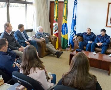 Comissão do Corpo de Bombeiros Militar visita a Unisinos